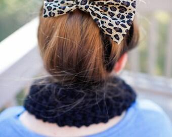Girls hair bows,cheetah bow,baby bows,hair bows for girls,cotton bows