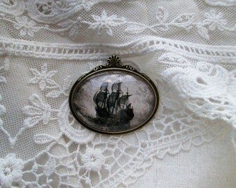 Mayflower Brooch, Historic Heritage Lineage Inspired