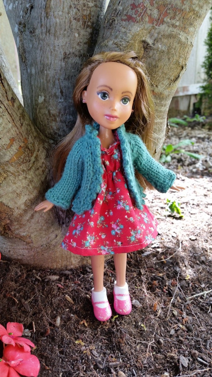 Knitting Pattern Doll Cardigan : Knitted Cardigan Sweater Pattern for Rescued Dolls pattern