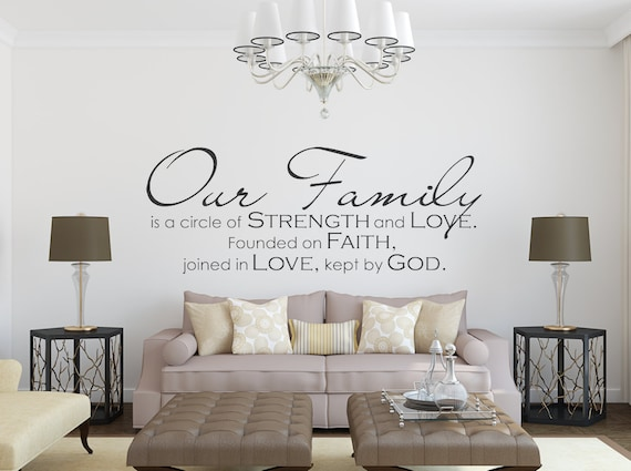Wall decor with family photos : Family wall decal our quote