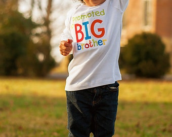 Promoted To Big Brother Shirt- Pregnancy Announcement Shirt-Sibling Shirt-New Baby Announcement-Baby Shower Gift-Big Brother Gift