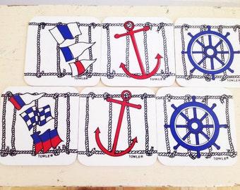 "Nautical Coaster Set of 6 ""Towle"""