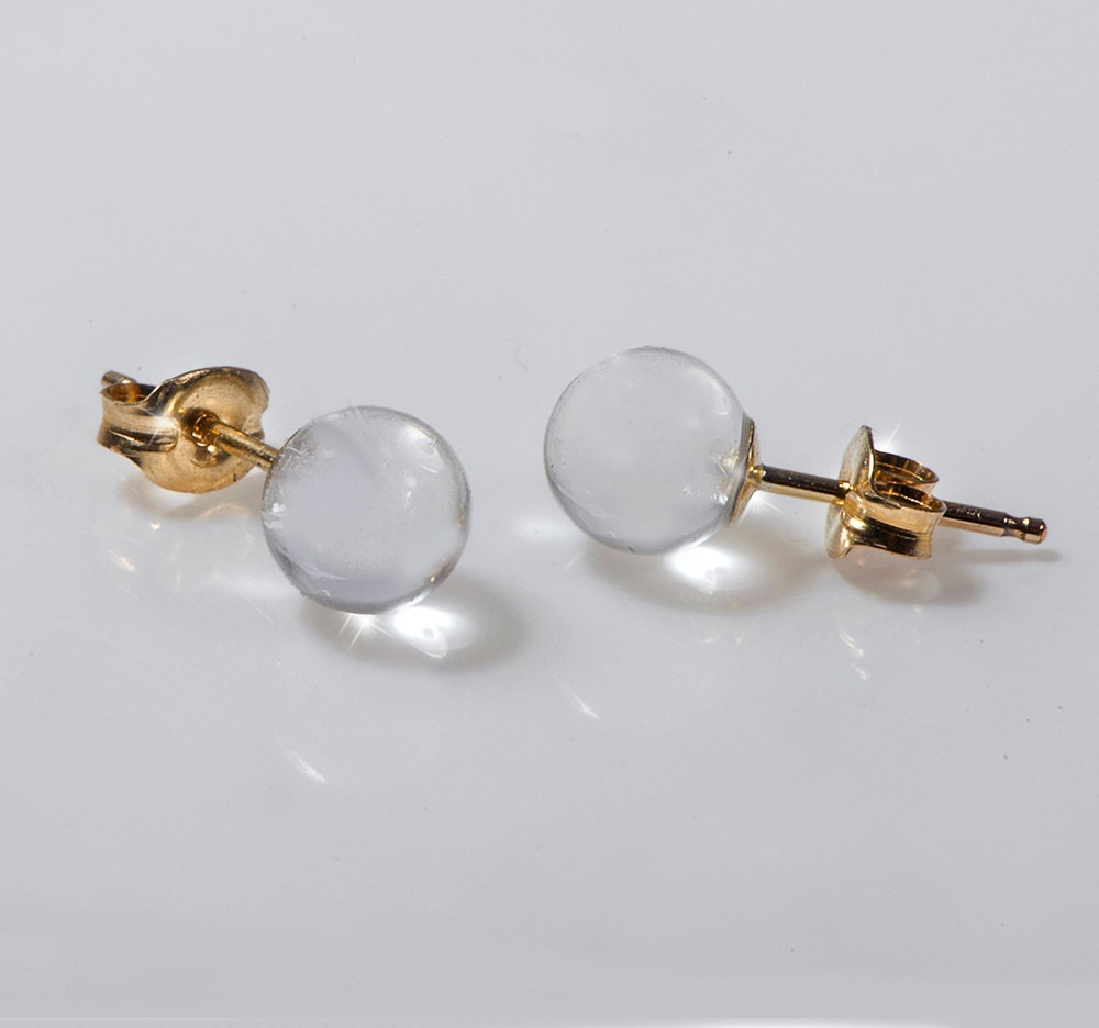 tiny post earring tiny gold stud earring disco by