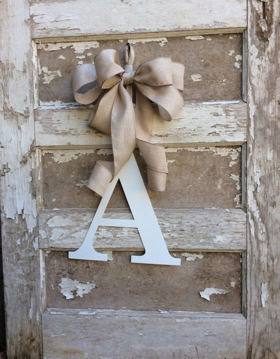Monogram wreathmetal monogrammetal door letterwedding for Metal letters for front door