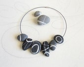 Nature necklace Pebble ne...
