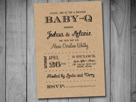 Baby Q Baby Shower Invitation Template Download Black