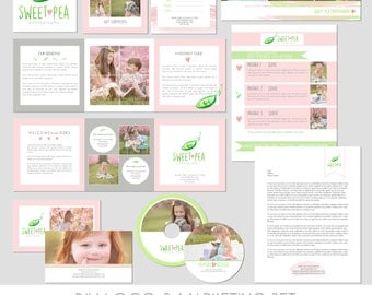 Photography Marketing Set - Sell Sheet - Package - FB Timeline -  Letterhead - Gift Card - Trifold - Investment Guide - Sticker - Business