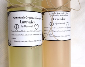 Organic Shampoo and Conditioner Homemade Shampoo and Conditioner Natural Shampoo and Conditioner with Vinegar Rinse