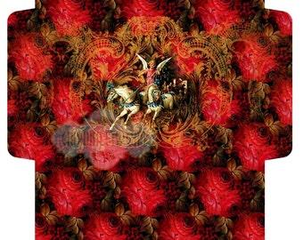 CHRISTMAS ROSEs - Printable Download Digital Collage Sheet Big Envelope - Print and Cut