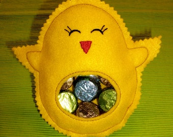 Easter Chick Reusable Candy Pouch
