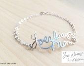 Handwriting Bracelet, Signature Bracelet, Christmas gift, Bridesmaid Gift, Wedding Gift