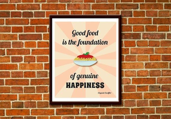 poster cucina stampabile con citazione sul cibo download immediato 3 misure stampe motivazionali