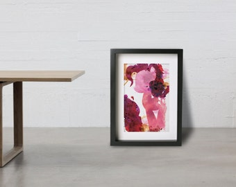 PINKIE PIE poster - Inspired by the My Little Pony Friendship is Magic series. Watercolor Giclee Print