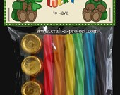 """St. Patrick's Day """"Best Friends"""" Bag Topper - Leprechaun - Pot-o-gold - St Patrick's Ideas - St Paddy - Shamrock - Lucky 4 leaf clover"""
