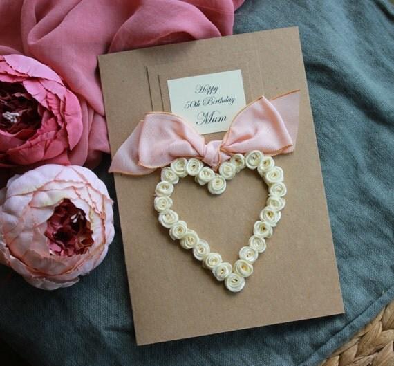 Happy Birthday Card Handmade Personalised Love You Mum – Sister 21st Birthday Card