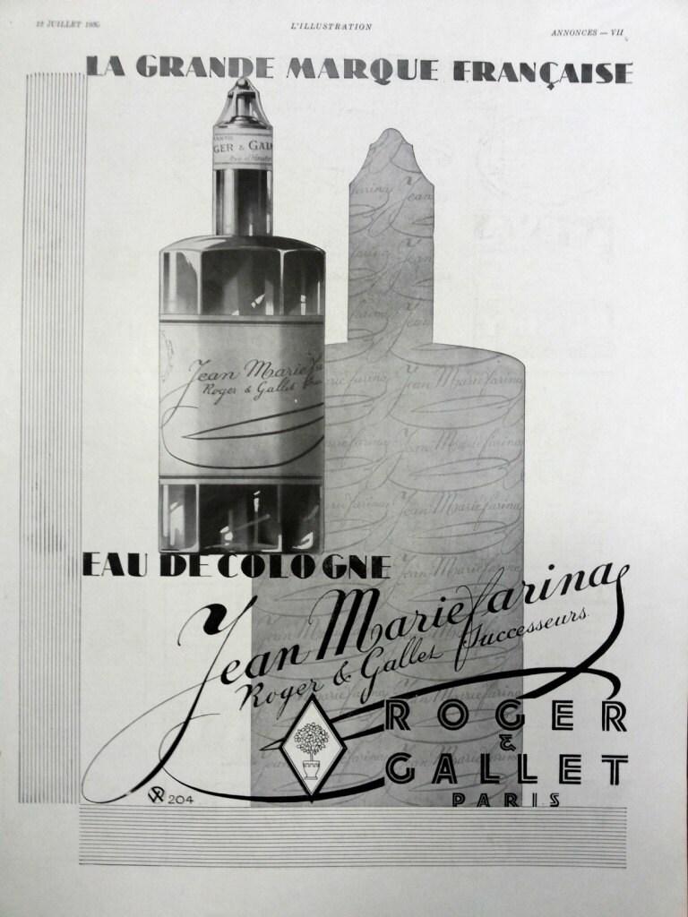 eau de cologne jean marie farina by roger gallet advertising. Black Bedroom Furniture Sets. Home Design Ideas