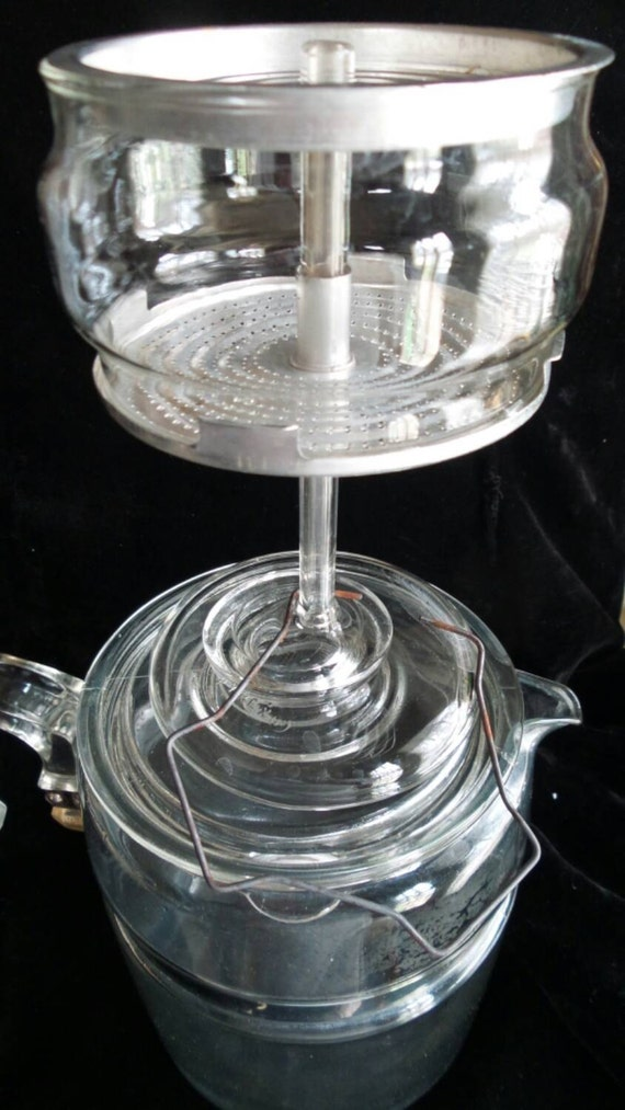Pyrex Coffee Maker How To Use : Percolator by Pyrex Glass Coffeepot