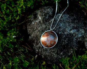 Round A Bout Mokume Gane Necklace