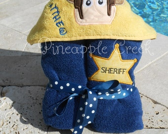 Sheriff Hooded Towel MONOGRAM INCLUDED