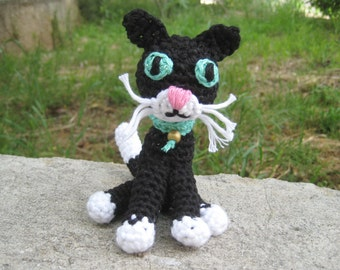 Crochet pattern amigurumi black cat - Amigurumi kitten pattern - Crochet animal toy tutorial