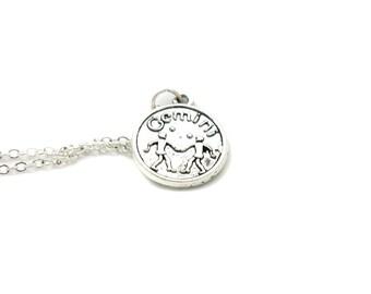 Gemini Necklace, Zodiac Necklace, Astrology Necklace, Zodiac Charm Jewelry, Gemini Charm, Zodiac Jewelry, Jewelry Gift, Birthday Gift