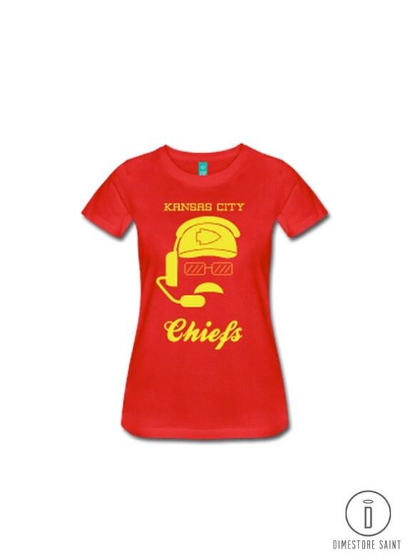 Kc chiefs andy reid women 39 s t shirt by dimestoresaintdesign for Custom shirts kansas city