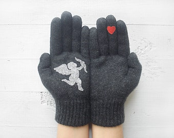 VALENTINE'S DAY GIFT, Cupid Gloves, Hearts, Angel, Arrow, Special Gift, Valentine Gift, Lover Gift, Gift For Her, Unique Gift, Lover Gift