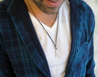 Men's Necklace - Men's Guitar Necklace - Men's Silver Necklace - Mens Jewelry - Necklaces For Men - Jewelry For Men - Gift for Him