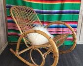Bamboo Rocking Chair Franco Albini Rattan
