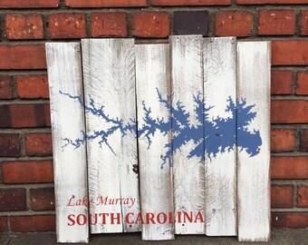 Lake Murray South Carolina Repurposed Pallet Board Painting