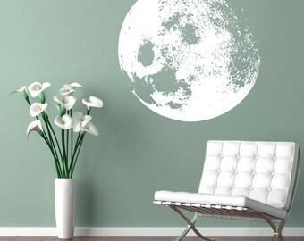 Moon Decal - Moon Home Decor Sticker - Customize Moon Color for Home Decor