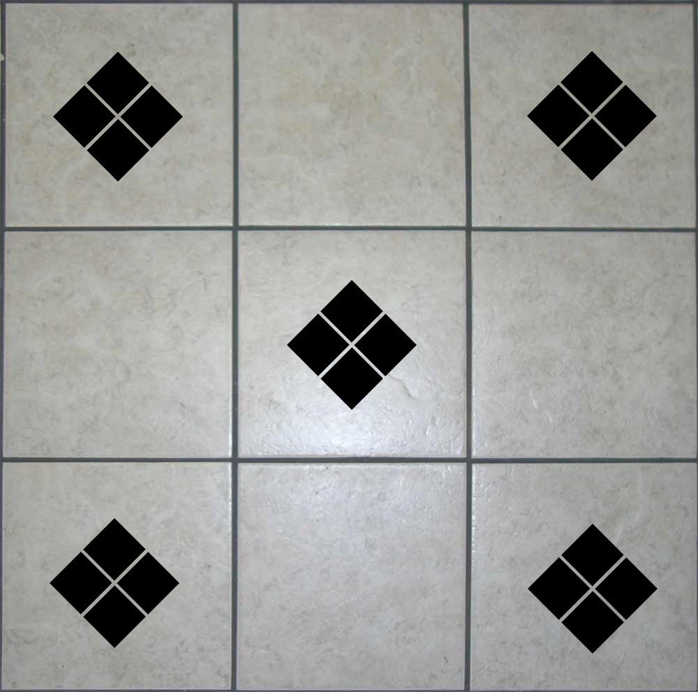 18 x diamond square tile transfers decals wall art stickers for Bathroom tile stickers