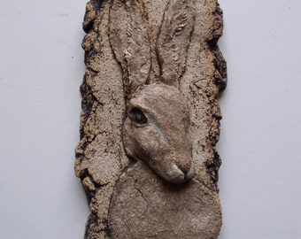 Hare - Ceramic Wall Plaque