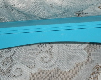 SALE Cottage Chic French Country Home Dish Plate Shelf Turquoise