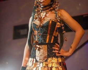 Beautiful copper runway outfit! Accessories included!!!