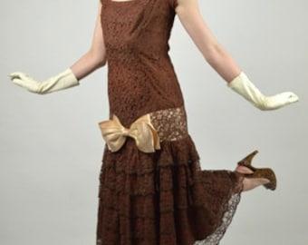 Cocktail Dress, Flapper Dress, Mermaid Dress, Tea Length, Lace Dress, Prom Dress, Homecoming Dress, Party Dress, Size Small