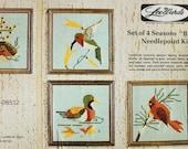Lee Wards 4 Seasons Birds Needlepoint Kit