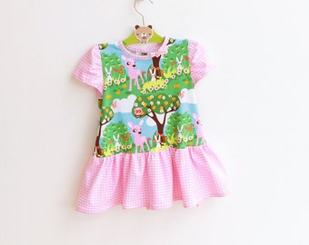 BAMBI Girl Baby Dress pattern sewing pattern Pdf , Toddler Dress, knit jersey Dress newborn 3 6 9 12 18 months 1, 2 3 4 5 6 yrs