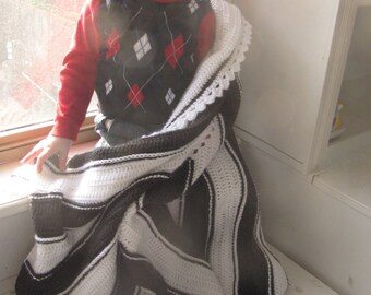 Instant Download Modern Baby Blanket Crochet Pattern Exploding Asymmetric Square