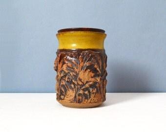 Vintage Medium Victoria Littlejohn Stoneware Jar with Lid