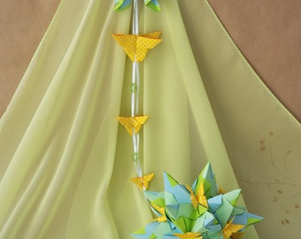 Butterfly paper mobile - Home decor - mobile - bedroom - baby mobile -  holidays - Birthday gift ideas - origami - origami mobile.