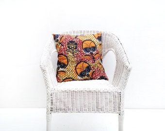 Decorative Pillow, African Print Pillow Cover, Home Decor, Ankara Pillow Cover, Ankara Cushion, Housewarming Gift, Orange Pillow Cover