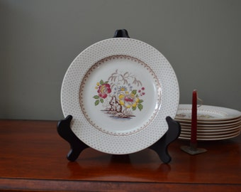 Floral Sandwich Plates Medium Plates Luncheon Plates Chippendale Gold Trim Floral Plates Price is for One - 9 Available  I Ship Globally