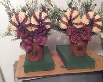 PRIMITIVE CANDY CANES-- , Christmas Decoration, snowman, snowmen, Holiday Decoration, winter decoration