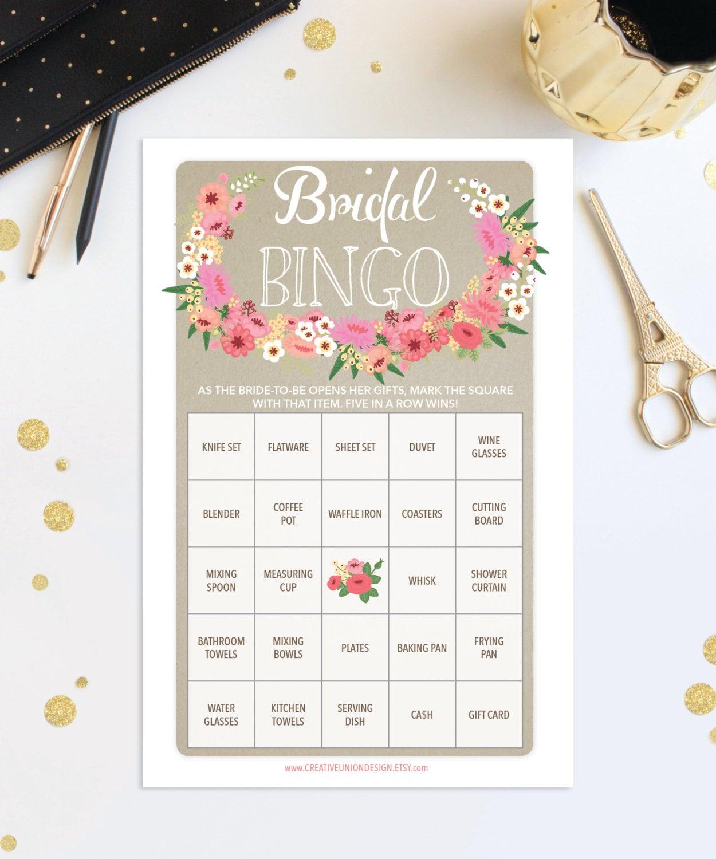 Bridal Shower Bingo Game 76 Unique Sheets Wedding