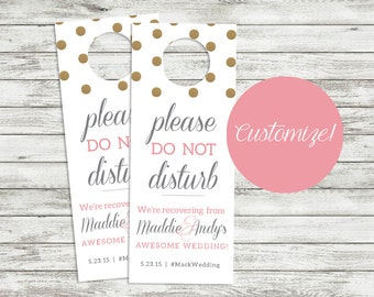 PRINTABLE | Hotel Room Guest Door Tag  - Shabby Chic - Do NOT disturb - Destination Wedding - Custom - Hotel Guest - Welcome Bag - Shhh