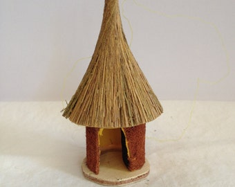 Handcrafted Hut Ornament