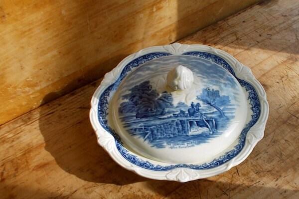 ironstone butter dish eBay