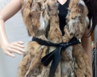 New!Natural Real Fur Vest from rabbit!
