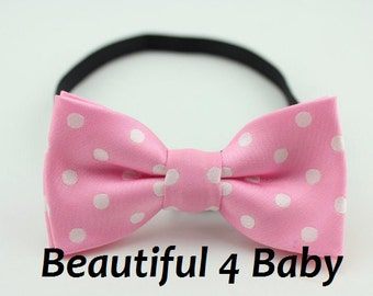 light pink baby bow tie light pink toddler bow tie baby bow
